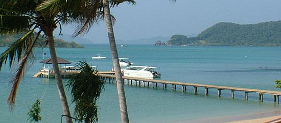 speedboat pier on Koh Mak